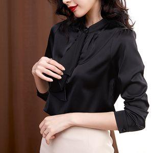 Simple basic round neck long sleeve T-shirt for women Korean version design feeling irregular fold wear loose bottom shirt 5721