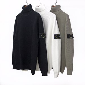 Nouveau Topstoney Spring Sitong Island Male Cp Loose Collier High High Collier Sweater Hommes Casual À Manches longues Couple Turtelneck Pull