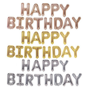 احباط بالون عيد سعيد الحروف الهجائية البالونات دعوى عيد ميلاد حزب ديكور روز الذهب بالونات الديكور لوازم LLA92