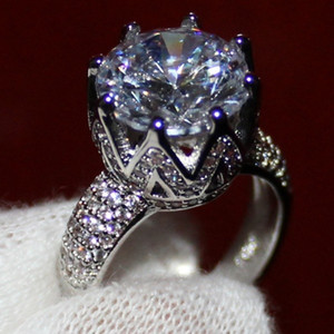 Queen Crown Diamond Ring 925 sterling silver Engagement Wedding band Rings for Women Bridal Anniversary Party Jewelry