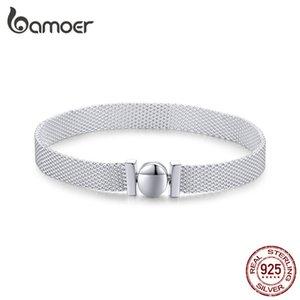 bamoer 100% Real стерлингового серебра 925 REFLEXIONS браслет Часы браслеты для женщин европейского Luxury Fine Jewelry LJ201020