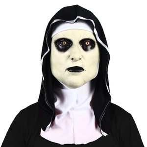 NEW Ghost Nun Latex Mask With Headscarf Scary Halloween Costume Party Dress Up