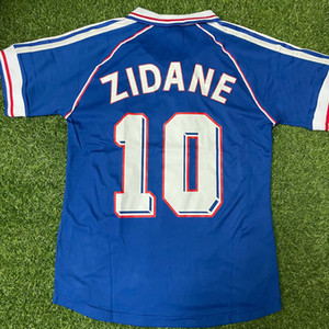 톱 1998 레트로 Zidane 10 헨리 12 Thuram 15 축구 유니폼 빈티지 Maillot 드 발 태국 품질 2006 축구 유니폼 유니폼 홈 셔츠