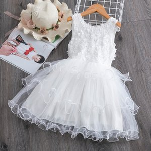 Girls Dress 2020 New Summer Brand Girls Clothes Lace And Ball Design Baby Girls Dress Party Dress For 3-8 Years Infant Dresses