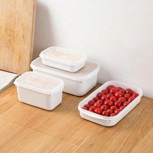 350-1600ML стекируемый Холодильник Ящик для хранения Кухни Multigrains Sealed Jar Бытовых пластиковых фруктов Клецки Зернистого UxoA #