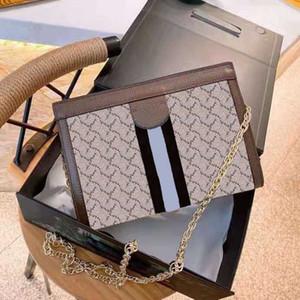 2021 Bolso de cuero de LUJO DE LUJOS DE LUJOS Moda Marca diseñadora Classic Wallet Handbag Ladies Bolso de hombro del embrague de alta calidad Bolso