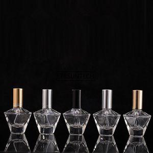 100 unids 10 ml Emalas de almacenamiento de perfumes Embarcas de vidrio Tarjetas de rociado Atomizador de rociado Botella Retellable Funda de olor con viaje