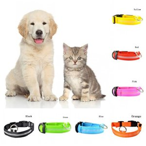 USB Charging LED Dog Collar Anti-Lost Nylon Light Collar for Dogs Puppy At Night Cool Pug Dog Supplies