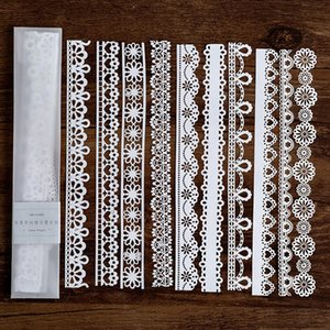 10 Alice Lace Hollow Lace Notes Paper Holder Retro Transparent Notes Notes Notepad Student Office Supplies Stationery jllnlT mxyard