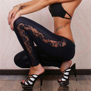 Faux Leather Women Leggings High Quality Slim Lace Leggings High Elasticity Sexy Pants Leggins Leather Boots Leggings