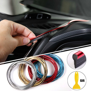 Neue 5M Auto Styling Innendekorationstreifen Formstreifen Armaturenbrett Tür Rand Universal Für Autos Auto Zubehör im Auto-Styling