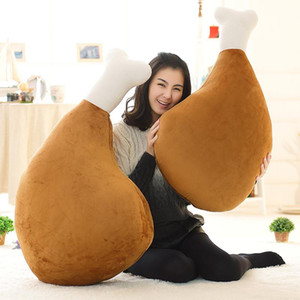 60cm Creative Toy Big Drumstick Pillow Plush Toy Cartoon Funny Doll Simulation Chicken Nugget Pillow