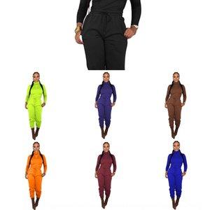Fhahr YD8160 YD8160 Vestuário 2020 Vestuário 2020 Mulheres Sólida Cor Lazer Lazer Coleira Alta Cintura Cintura Duas Peças Desgaste das Mulheres