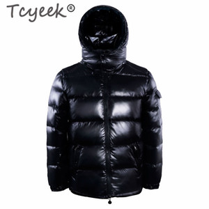 Tcyeek Fashion Winter Down Coat Male Thick Warm Down Jacket Men Coat Winter White Duck Down Jackets Short Hooded Outwear 18028 201022