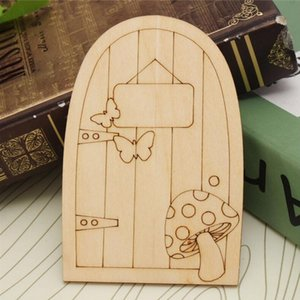 Elf Door Mini Wooden Fairy Door Fairy Garden Miniature Decoration 10*6.4*0.3cm Z1791