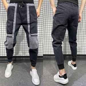 Herbst-neue beiläufige kurze Hose Herren Trendy Kontrast-Farben-Stitching Jogger Korea-Art-Trainingshose Männer Hip Hop Männer Hosen