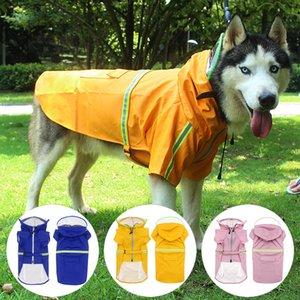 애완 동물 개 의류 비옷 후드 방풍 중 대 개 의류 반사 방수 개 비옷 애완 동물 용품