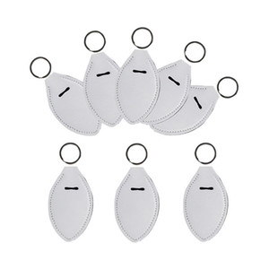 8 Shapes Sublimation Blank Hand Sanitizer Bottle Holder DIY Plain White Neoprene Key Ring Lipstick Holders Cases Bag Keychains Toys HH12507
