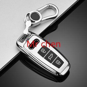 TPU-Auto-Schlüssel-Abdeckungs-Fallhalter für Audi A6L A7 A8 Q8 E-Tron C8 D5 AUTO Smart Remote Schlüssel Schutzhülle