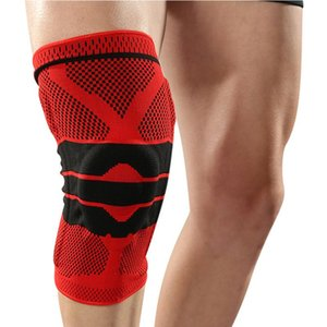 Silicone Knee Support Compression Knee Pad Spring Brace Patella Medial Protector Meniscus Protection Sport Running Gym
