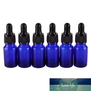 6pcs 10ml Blue Glass Dropper Bottles with Pipette Empty Perfumes Bottles Liquid Jars