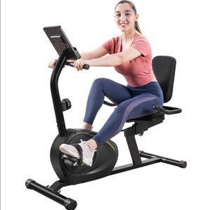 Stati Uniti Stock Indoor Recumbent Cyclette con 8-livello di resistenza Bluetooth Monitor regolabile Sedile 380lb Peso Capacità MS193107BAA