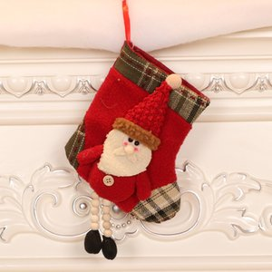 Free Shipping Christmas decorations for the elderly small socks tree pendants Christmas stockings gift bags F5003