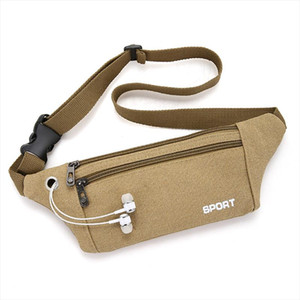 2019 man canvas Waist Bag Belt New Brand Fashion Chest Handbag Fanny Pack Waist Pack Belly Bags Purse