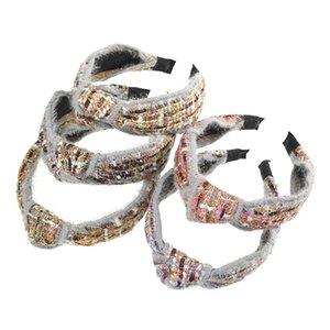 Pequeno incenso vento de lã atada Hairband de cabelo retro acessórios para mulheres Meninas Broadside Feito à Mão mantilha