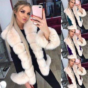 Faux Rabbit Fur Coats Women Plus Size Winter Warm Jackets Solid Color Lapel Neck Fashion Women Cardigan Clothes
