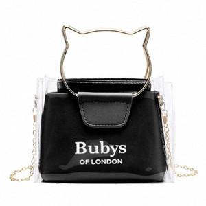 Women Transparent Small Handbag Shoulder Bag Cute Beach Female Tote gss9#