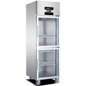 Commercial 246-door vertical air-cooled refrigerator kitchen freezer glass door freezer refrigerator catering fresh cabinet 2~8 (C)
