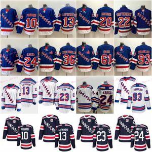 13 Alexis Lafreniere New York Rangers Eishockey Trikots 10 Artemi Panarin 24 Kaapo Kakko 23 Adam Fox 11 Mark Messier Chris Kreider Zibanejad