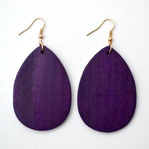 Inspired Fashion Trendy Dyeing Wood Drop Earrings for Women Kendra Style Jewelry Earrings