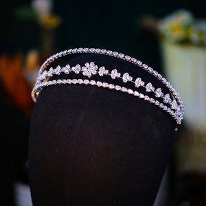 Zircon Headband Korea Hairband Wedding Bridal Bridesmaid Silver Headpiece Hair Accessories Jewelry Headdress Fashion Prom Headwear Ornament