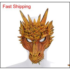 Fierce ejderha maskesi dinozor kafatası tüm yüz kafa maskeleri festivali dans partisi cosplay kostüm Cadılar Bayramı partisi Qylepv new_dhbest