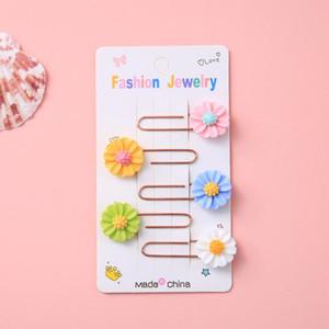 5 Pcs pack Kawaii Daisy Sun Flower Bookmark Cute Binder Clips Notes Letter Paper Clip Office school Supplies