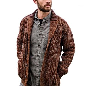Sweaters Solid Color Plus Size Cardigan Long Sleeve Male Clothing Autumn Fashion Casual Men Knits Loose Mens Designer