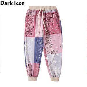 Темный значок бандана спортивные штаны мужчины женские уличные танец мужские гарема брюки бегагирующие брюки 2 цвета 210201