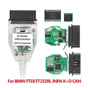 10PCS INPA K+CAN With Switch FTDI FT232RL OBD2 Cable Diagnostic interface for INPA K DCAN Support K Line