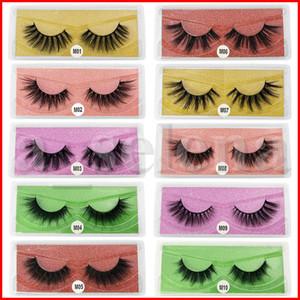 3D Mink Eyelashes Wholesale Natural False Eyelashes 3D Mink Lashes Soft make up Extension Makeup Fake Eye Lashes