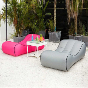 Drop Shipping Inflatable Beanbag Sofa Outdoor Beach Chairs Air Lounger Sofa Bed Garden Sofas Cheap Patio Furniture Outdoor Dining Sets gIBI#