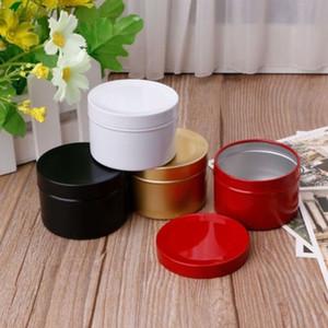 Hot Sale Mini Tin Kitchen Tea Storage Box Sweetmeats Candies Cans Round Metal Case Wedding Favor Organizer Container 50ml
