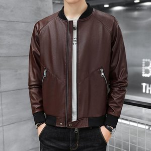 Autumn Hot Style Stand-up Collar Men's Motorcycle Leather Jacket Men's Stylish Leather Jacket1