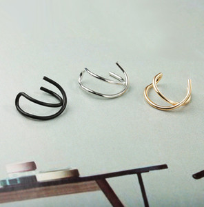 Ear Cuff No Piercing Earcuff Double Ear Cuff and Criss Cross Cartilage Simple Cartilage Earring ps1869