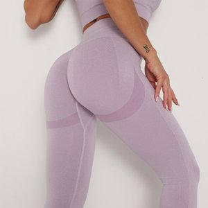 2020 Europe and selling seamless knitting Bottom wicking sports and fitness pants yoga pants sexy female hip significantly fashion leggings