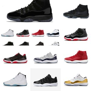 11 PRM Robe Heirress Xi 11s Cap et Stingray Black Stingray Gym Rouge Chicago Midnight Marine Space Space Hommes Basketball Chaussures Sports Sneakernbfs