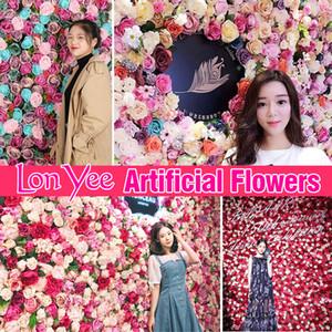 40 * 60cm flores artificiales pared de la Navidad Decoración Fotografía romántico telón de fondo Partido de fondo flor de la boda de bricolaje Suministro YL0178