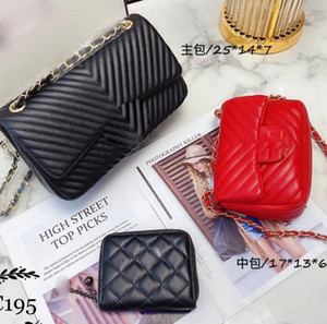 2020 CH-Letters Women shoulder bag new fashion real leather crossbody bags chain bag casual large volum tote Luxury Single Shoulder Bag