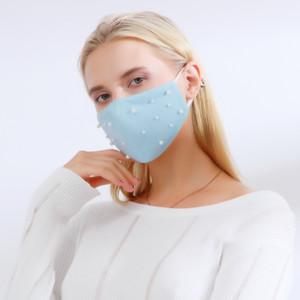 DHL Kargo Moda Inci Maskeleri Yıkanabilir Katı Renk Nefes Pamuk Ağız Kapak Parti Yüz Maskesi Kullanımlık Bisiklet Rüzgar Geçirmez Maske EWA2055